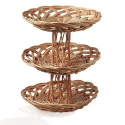 Chef-Hub 3 Tier Wicker Display Stand